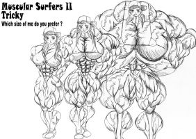 Muscular surfers :Tricky 2-2 sample1 by e19700