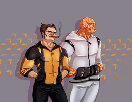 Two No-Nonsense Heroes by jadenwithwings