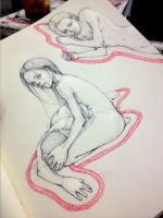 Outlines of the invisible weights by MarySdfghjkl