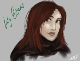 Lily Evans portrait by nutella-frogs