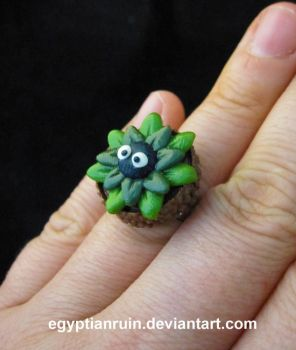 Soot Sprite Acorn Ring by egyptianruin