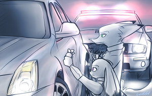 Pulling over by oLEEDUEOLo