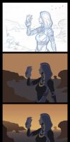 Mass Effect: Tali'Zorah Painting Process by Nightlyre