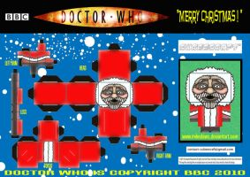 Doctor Who - Robot Santa Cubee by mikedaws