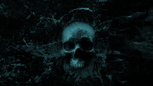 Splashing Skull 3.0 - Wallpaper (blue) by WisdomX