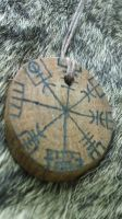 Vegvisir Viking Oak Talisman by Troll-Blood