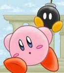 Kirby + Bobomb by poliwag30