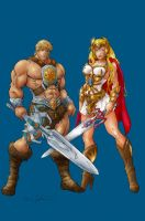 He-Man and She-Ra by Myko--