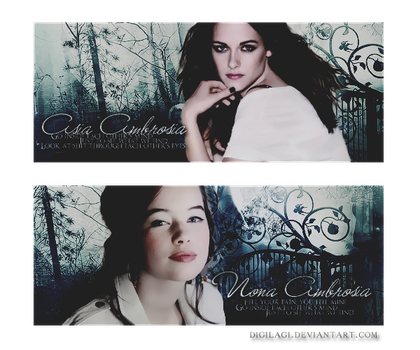 Kristen Stewart and Anna Popplewell by digilagi