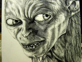 Gollum on canvas by boy140495