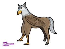 Daily Sketch Challenge: HIPPOGRIFF by subatomiclaura