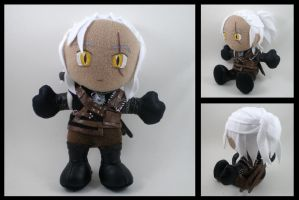 Geralt plushie - The Witcher 2 by eitanya
