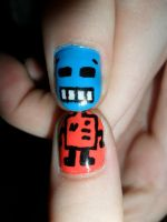 Mr. Roboto nails part#2 by JennyBean4u