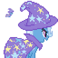 GAP Trixie Lulamoon back sprite with hat by fanofetcetera