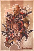 Team Fortress 2 Poster by Ebae