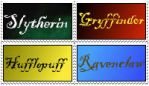 Hogwarts houses by Mierzeja