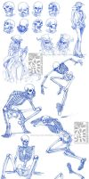 Skeletal Sketchdump by Canadian-Rainwater