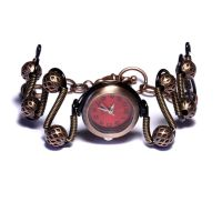SteamGoth Red Watch Bracelet by CatherinetteRings