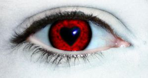 Heart Shaped....Pupil :D by Psycho-kitty123