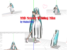 MMD Metallic Wedding Miku by Otaku2803