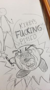Kirby is not very happy by GameRat101