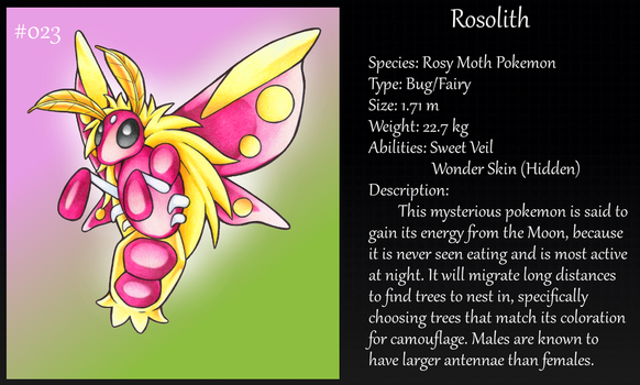 #023 Rosolith Fakemon by Angel-Moonlightwolf