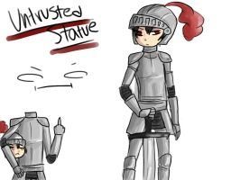 Humanized UNTRUSTED STATUE by Mintay-chan