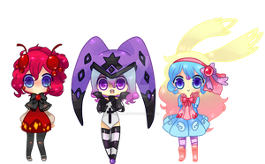 Three magic girl adopts! [ open ] by Spookie-Sweets