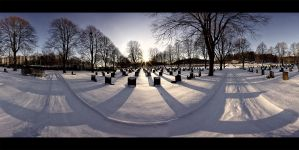 white graveyard panorama by technoloop