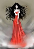Lady in red by Diamond-Fairy