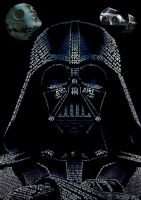 Darth Vader made anly by text by elic22