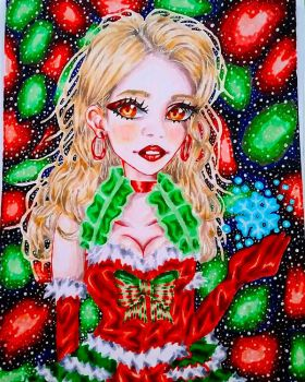 Gyaru Christmas Burlesque by Cherryblossomfang