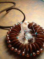 Brown and Teal Tangle by Erisana