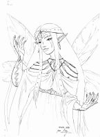 Sketch 10: Rain fairy by mesitka