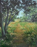 Path oil paint by Boias