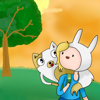 Fionna and Cake by Deryka