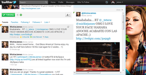 Mickie James twitter by tereLovato