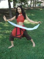 Fire Nation Katara cosplay by Kuroame14