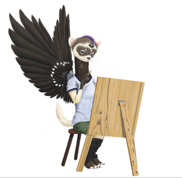 Mockingbird the Ferret by NorthernCityLights