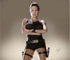 Lara Croft ( Angelina Jolie ) by CihanSC