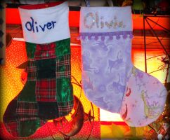 kiddles X-mas stockings by wiccanwitchiepoo