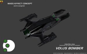 Volus Bomber Concept (w.i.p) by Euderion
