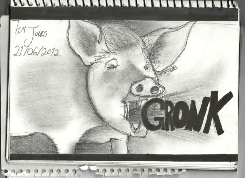 GRONK pig by CookieMonster2107