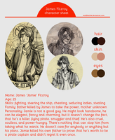 CHARACTER SHEET: James Fitzroy by MadBlackie