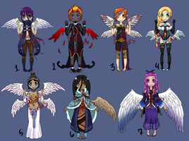 Angel Adoptables [1/7 OPEN] by AdoptErrors