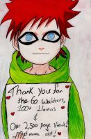Gaara and I Say Thank You! by SgtJellyBeans