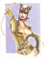 Catwoman: sketch by ai-eye