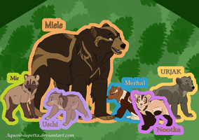 Bear ocs_Group 1 by Aquene-lupetta