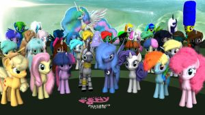 MLP Fluffy - All Together - Version 3 - March 2012 by VeryOldBrony
