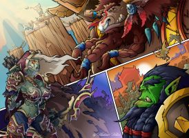 WoW fan comics page by xVolchOKx